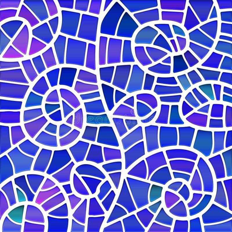 Fondo astratto del mosaico del vetro macchiato di vettore illustrazione vettoriale
