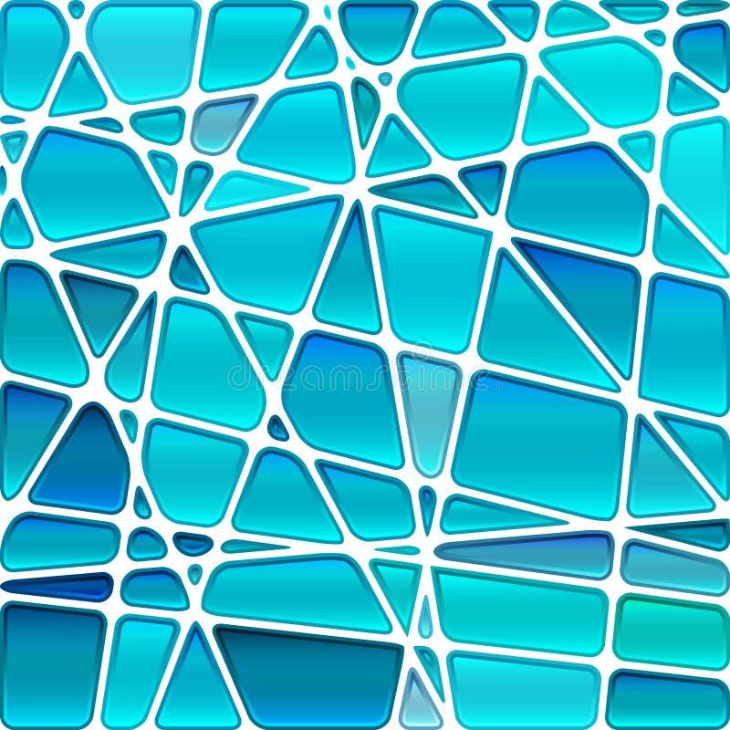 Fondo astratto del mosaico del vetro macchiato di vettore illustrazione di stock