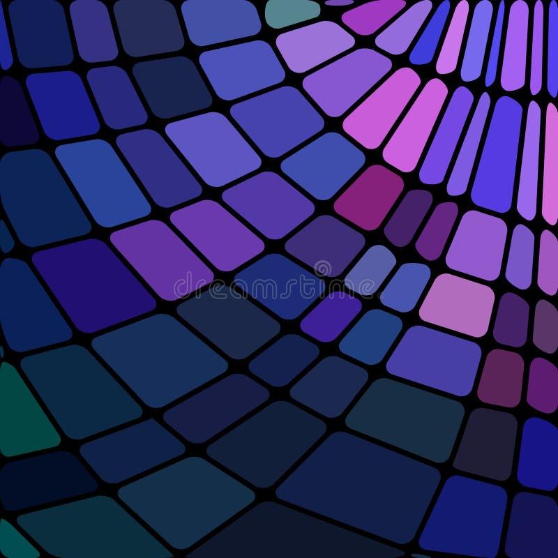 Fondo astratto del mosaico del vetro macchiato di vettore royalty illustrazione gratis