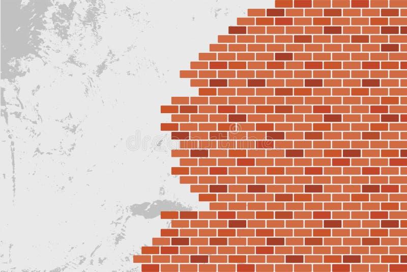 Fondo astratto del muro di mattoni di Brown - Vector la progettazione illustrazione di stock