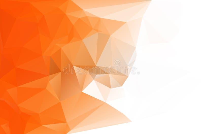 Fondo astratto del triangolo del poligono illustrazione di stock