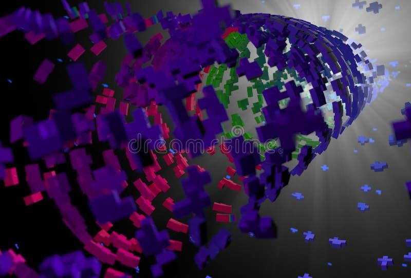 Fondo astratto del tubo dei polygones fotografia stock libera da diritti