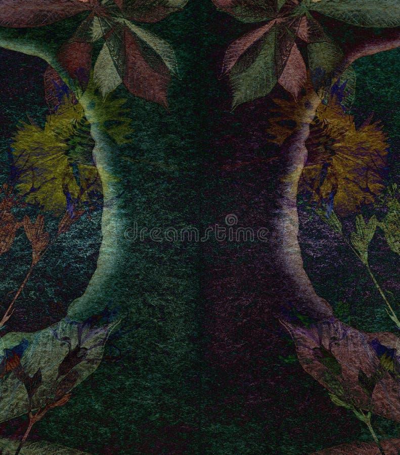 Fondo astratto dell'acquerello con i modelli astratti di colore immagine stock