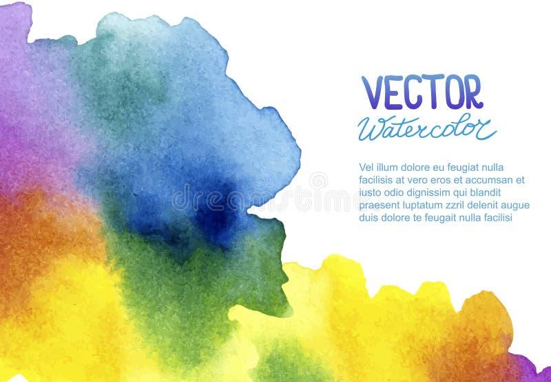 Fondo astratto dell'acquerello per la vostra progettazione illustrazione vettoriale