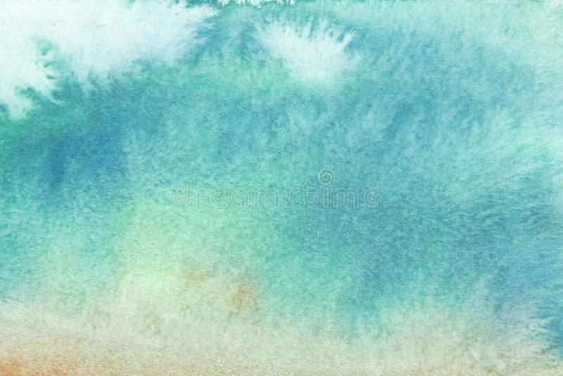 Fondo astratto dell'acquerello, pittura bagnata di pendenza disegnata a mano originale del waldorf Modello variopinto con il post illustrazione vettoriale