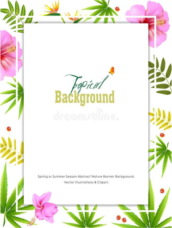 Fondo astratto dell'insegna della natura di stagione estiva o della primavera royalty illustrazione gratis