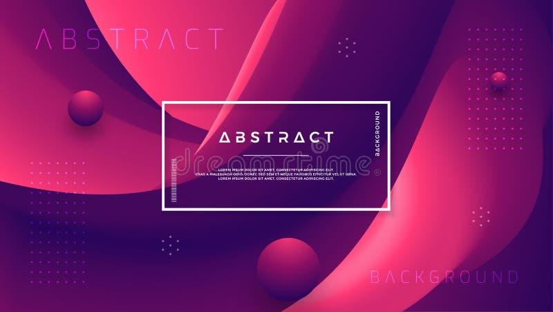 Fondo astratto dell'onda di pendenza con una combinazione di porpora rossa e scura Flusso dinamico di colore del fondo Vettore Ep royalty illustrazione gratis