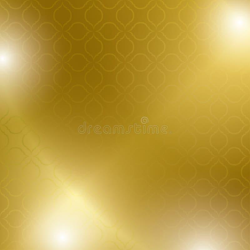 Fondo astratto dell'oro e luminoso - vettore illustrazione di stock