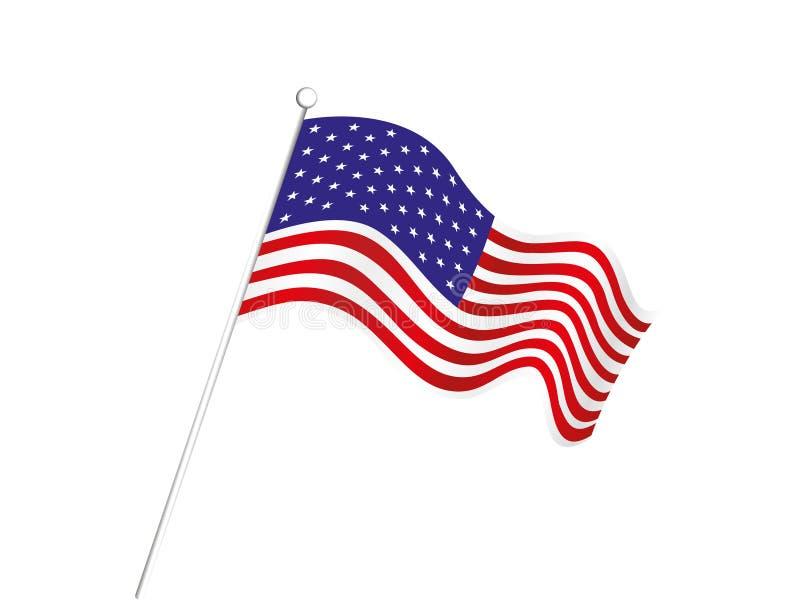 Fondo astratto della bandiera americana illustrazione di stock