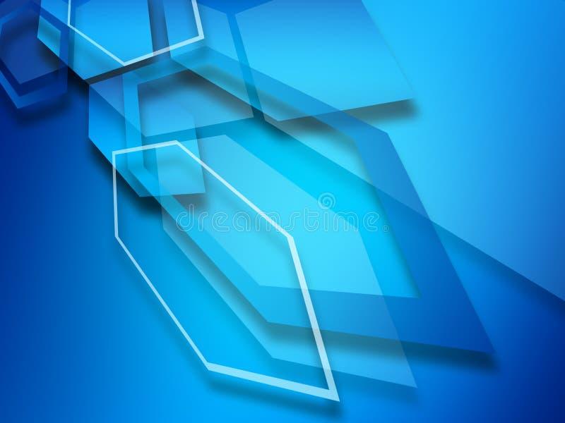 Fondo astratto della geometria di esagono Illuminazione scura immagini stock