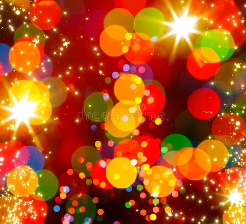 Fondo astratto della luce dell'albero di Natale illustrazione di stock
