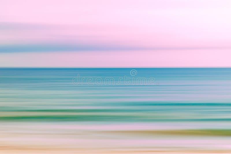 Fondo astratto della natura dell'oceano e del cielo fotografia stock libera da diritti