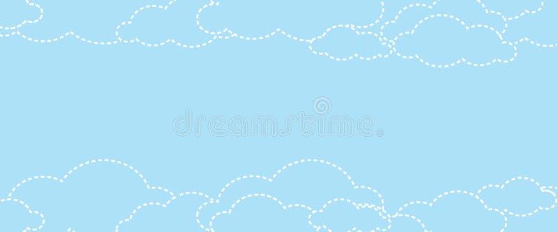 Fondo astratto della nuvola con stile di progettazione di divertimento illustrazione vettoriale