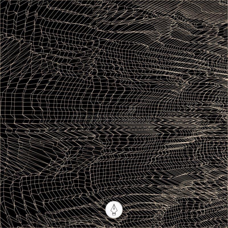 Download Fondo Astratto Della Rete Vettore Di Tecnologia 3d Illustrazione Vettoriale - Illustrazione di maglia, copertura: 56884030