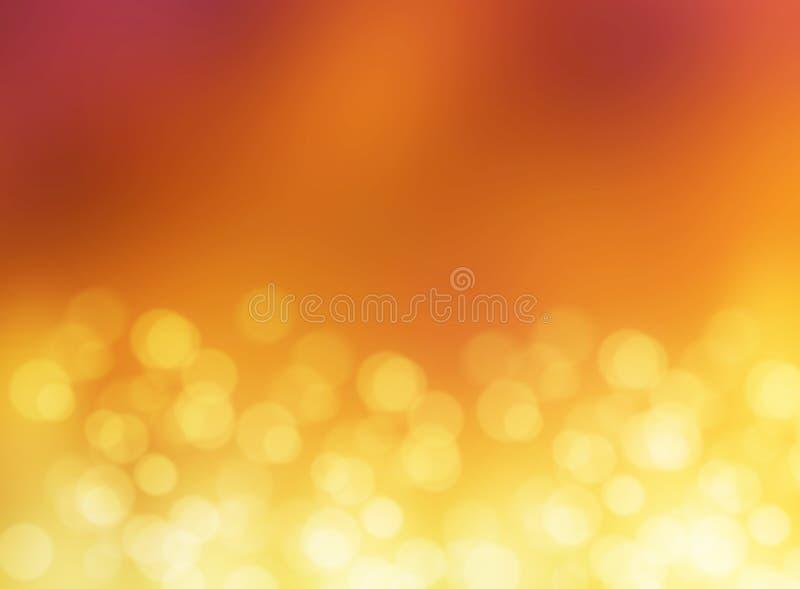 Fondo astratto della sfuocatura del bokeh dell'oro della luce di effetto fotografie stock