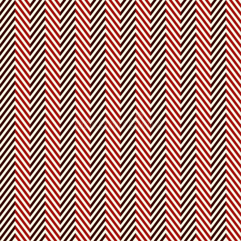 Fondo astratto della spina di pesce Il modello senza cuciture di colori rossi con la diagonale del gallone allinea illustrazione di stock