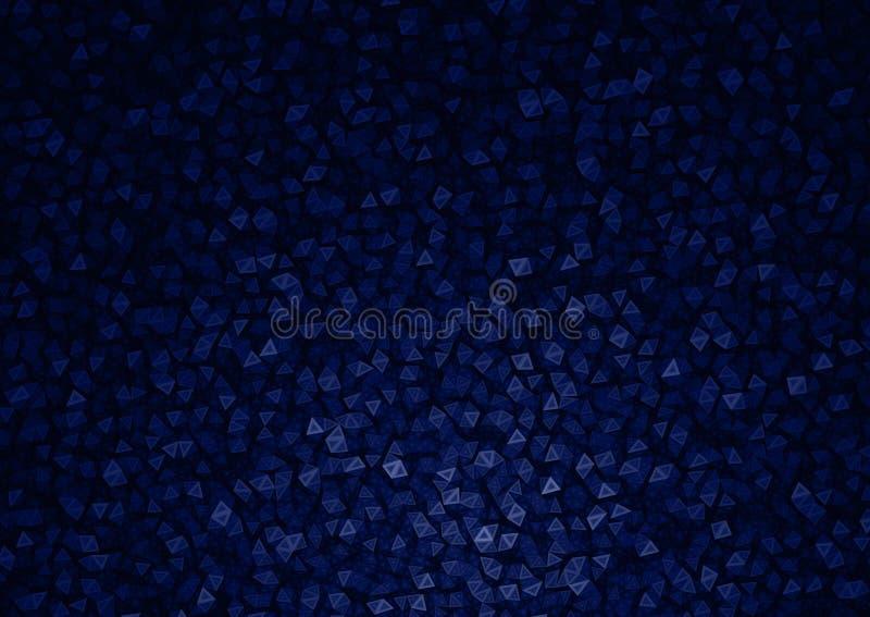 Fondo astratto delle particelle blu del poligono fotografia stock