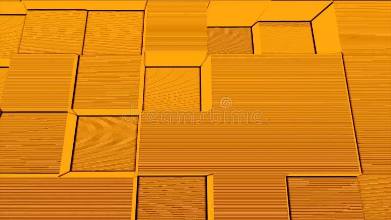 Fondo astratto delle particelle di rumore della scatola quadrata, esplosione geometrica del fumo del mosaico del fumetto, modello royalty illustrazione gratis