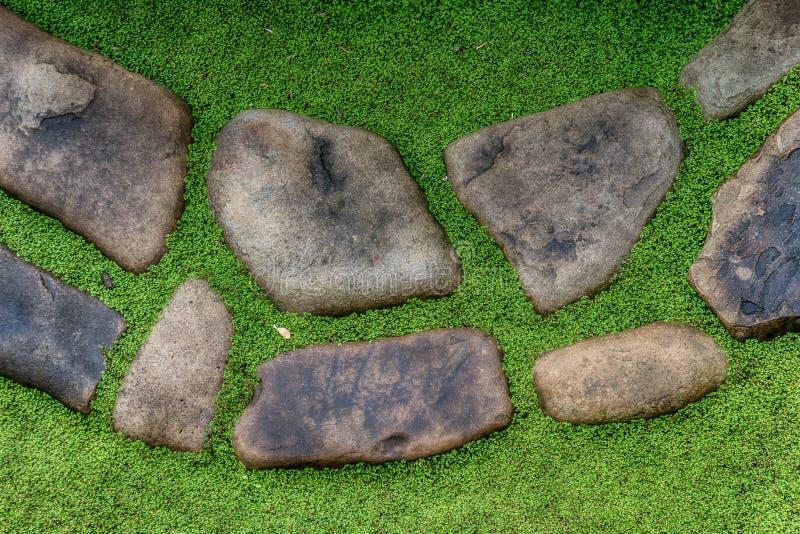 Fondo astratto delle pietre del percorso del giardino fotografia stock