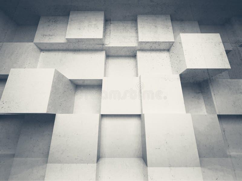 Fondo astratto di architettura 3d con i cubi illustrazione for Programmi 3d architettura
