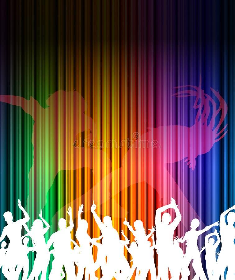 Fondo astratto di ballo di musica illustrazione di stock