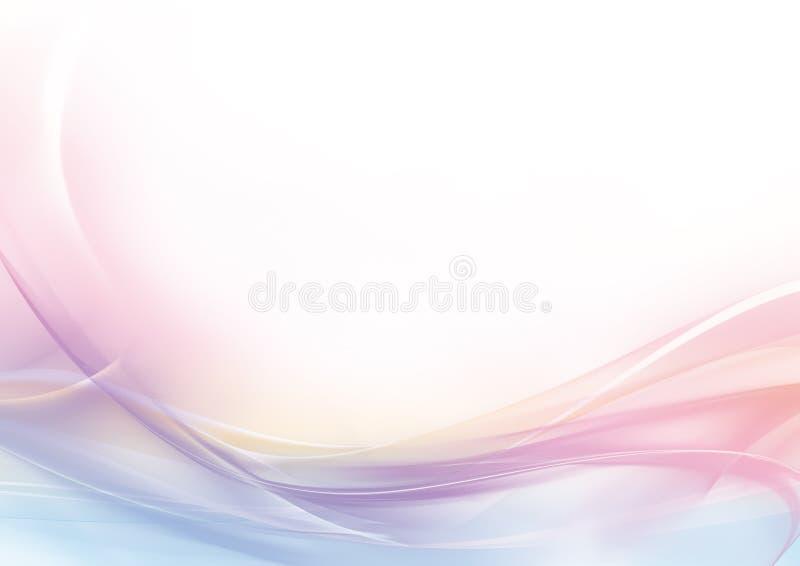 Fondo astratto di bianco e di rosa pastello illustrazione vettoriale