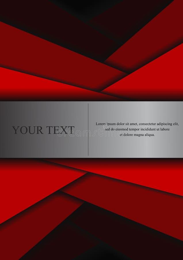 Download Fondo Astratto Di Carta Di Sovrapposizione Illustrazione Vettoriale - Illustrazione di nero, testo: 56875391