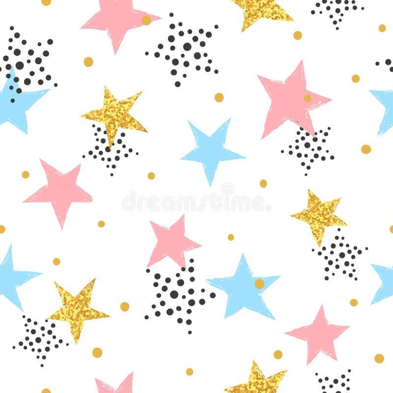 Fondo astratto di celebrazione con le stelle variopinte illustrazione vettoriale