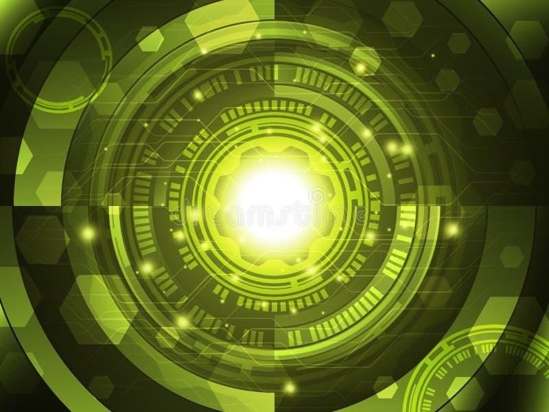 Fondo astratto di concetto di tecnologia Illustrazione di vettore illustrazione di stock