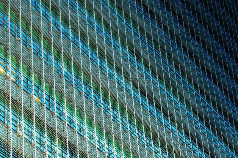 Fondo astratto di costruzione di vetro futuristico moderno Esterno di architettura della costruzione di vetro dell'ufficio Faccia immagini stock