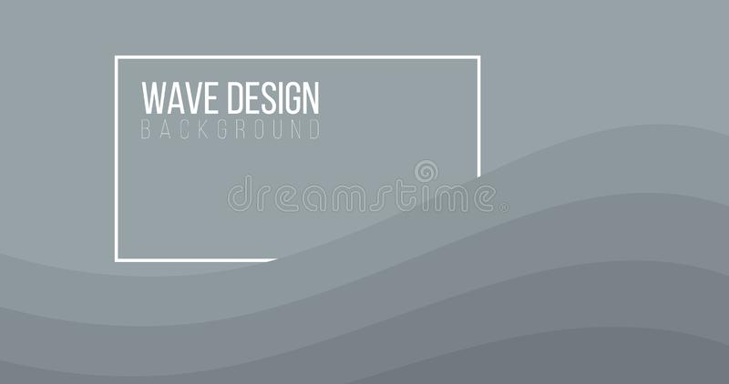 Fondo astratto di creatività di progettazione moderna di Grey Waves, con la scatola per testo Il fondo di vettore pu? essere util royalty illustrazione gratis