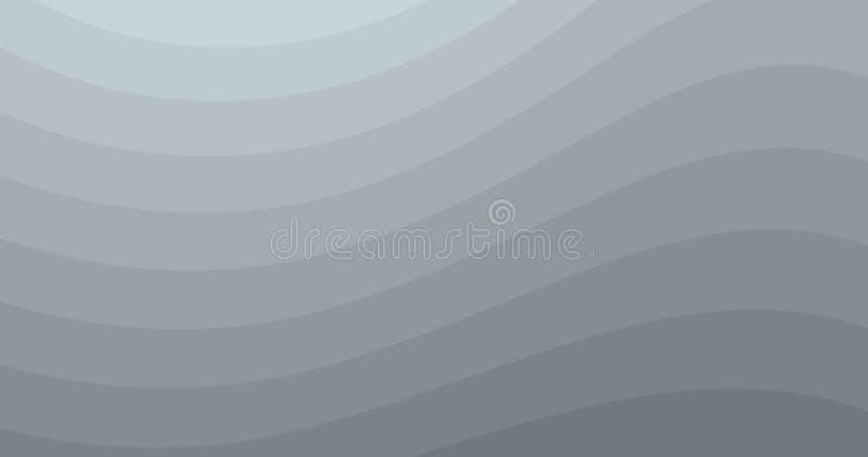 Fondo astratto di creatività di progettazione moderna di Grey Waves Il fondo di vettore può essere utilizzato nella progettazione illustrazione di stock
