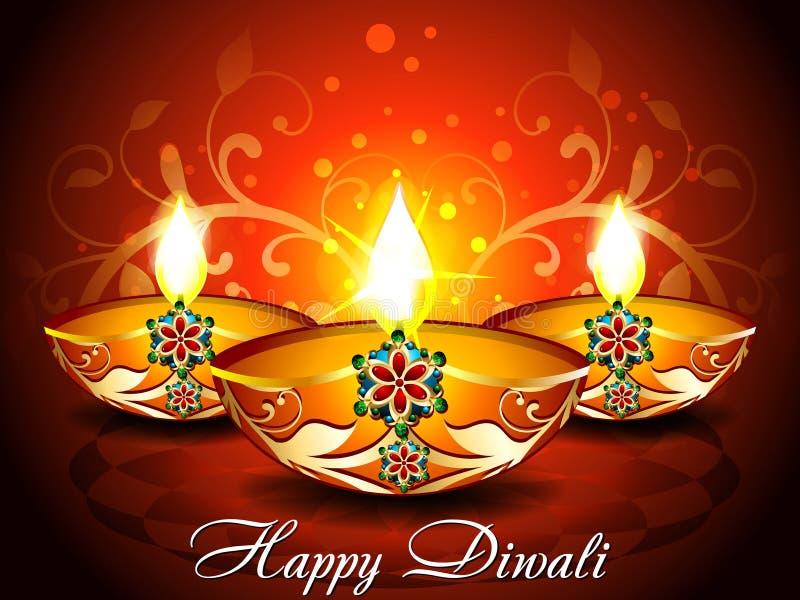 Fondo astratto di diwali con floreale illustrazione di stock