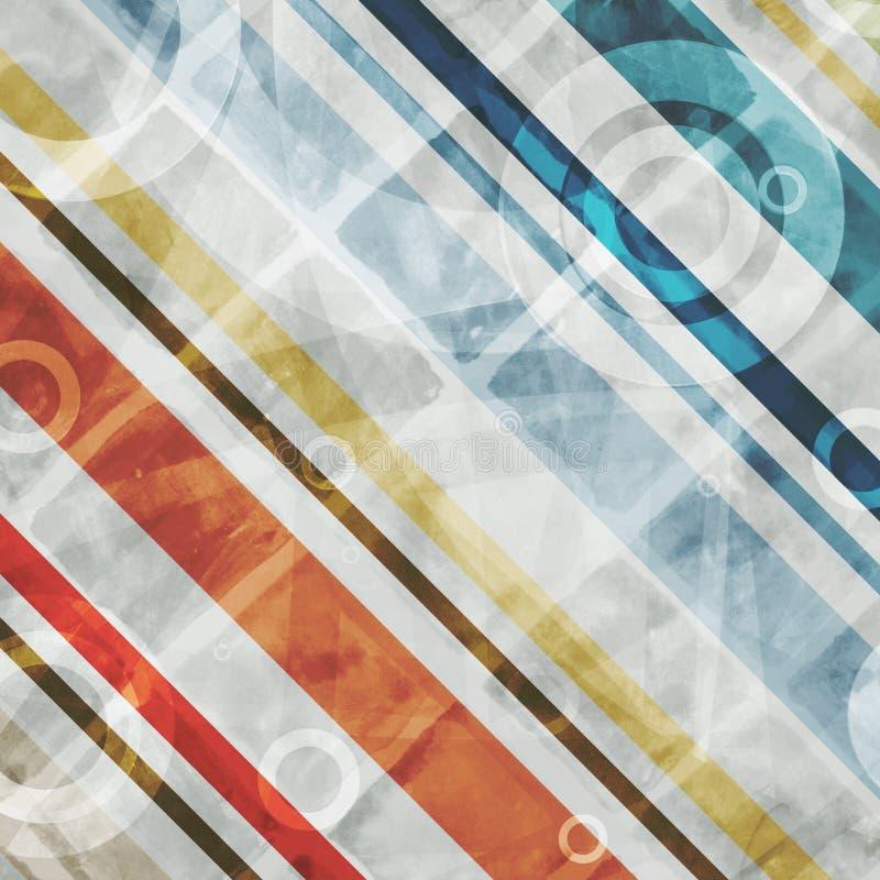 Fondo astratto di doppia esposizione con gli elementi moderni di progettazione geometrica e le linee diagonali royalty illustrazione gratis