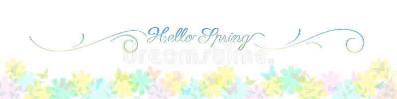 Fondo astratto di estate della molla nel colore pastello leggero con lo spazio della copia, tema floreale royalty illustrazione gratis