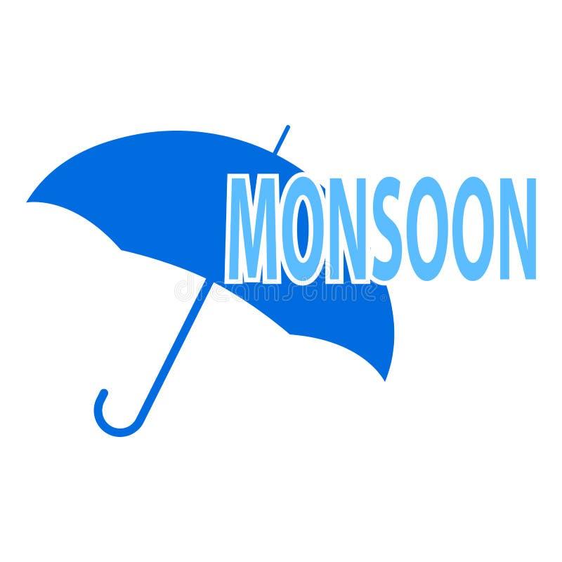 Fondo astratto di monsone illustrazione vettoriale