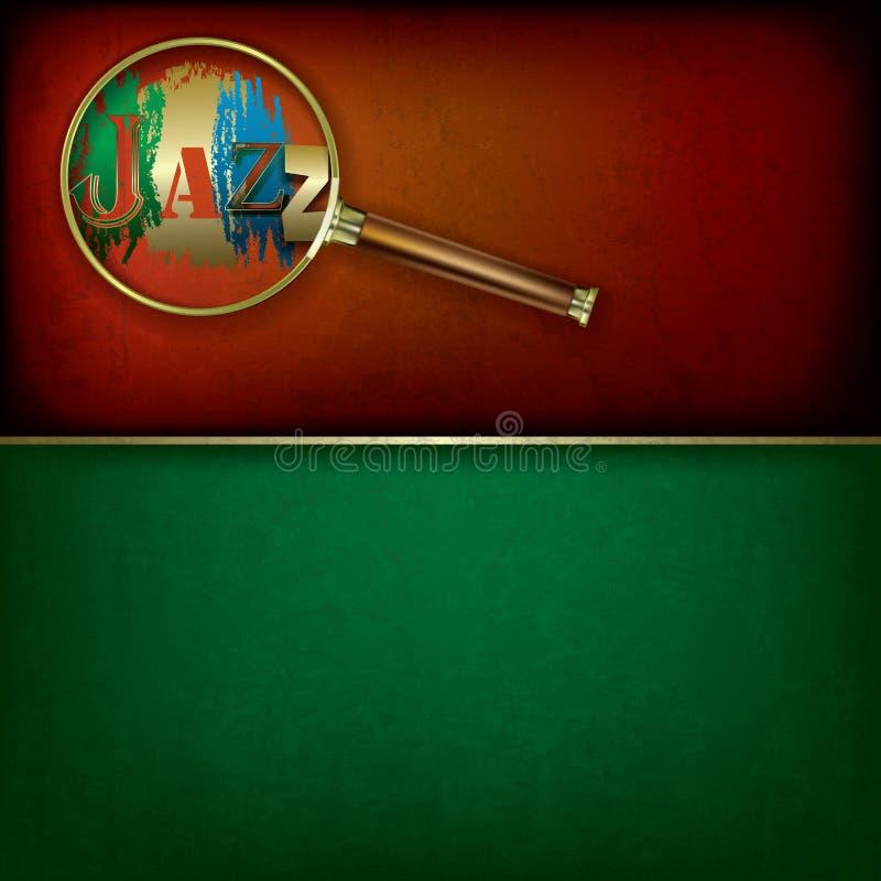 Fondo astratto di musica con jazz e Magni di logo illustrazione di stock