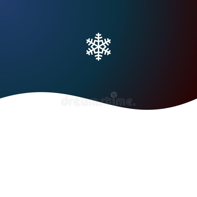 Fondo astratto di Natale con il fiocco di neve royalty illustrazione gratis