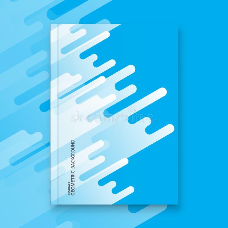 Fondo astratto di progettazione dell'aletta di filatoio modello dell'opuscolo illustrazione vettoriale