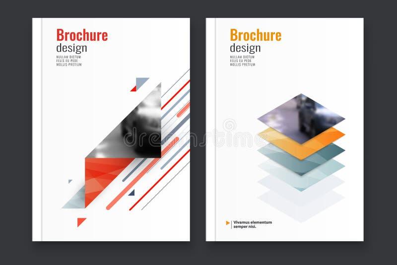 Fondo astratto di progettazione dell'aletta di filatoio modello dell'opuscolo immagine stock