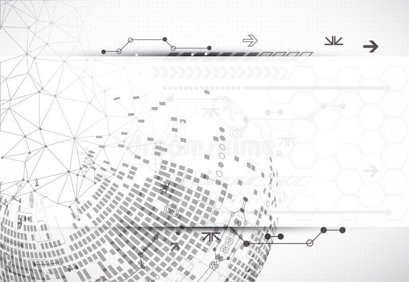 Download Fondo Astratto Di Progettazione Della Luce Di Tecnologia Della Comunicazione Illustrazione Vettoriale - Illustrazione di terra, grigio: 56892873