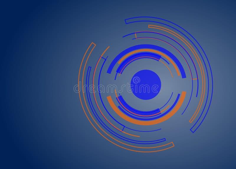 Fondo astratto di progettazione di vettore di forma del cerchio di tecnologia illustrazione di stock