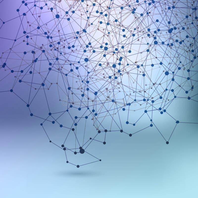 Fondo astratto di schema della rete di comunicazione royalty illustrazione gratis
