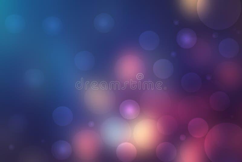 Fondo astratto di scienza di chimica o di biologia molecolare Tecnologia futuristica moderna del magenta blu scuro variopinto del royalty illustrazione gratis