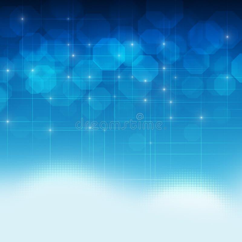 Fondo astratto di tecnologia di Digital illustrazione di stock