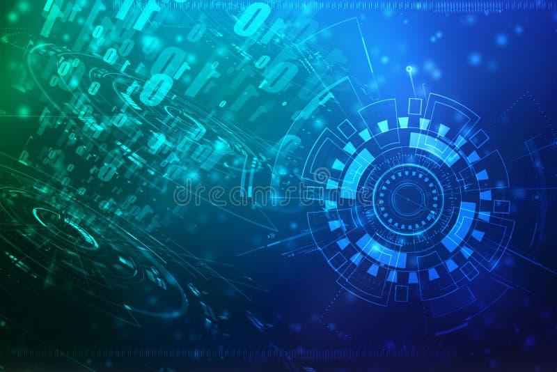 Fondo astratto di tecnologia di Digital, fondo binario, fondo futuristico fotografia stock