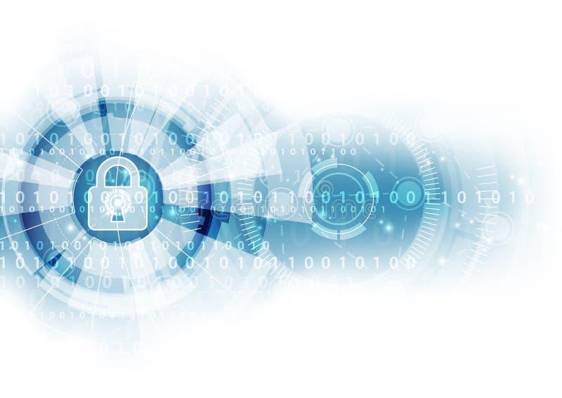 Fondo astratto di tecnologia digitale di sicurezza vettore dell'illustrazione illustrazione vettoriale