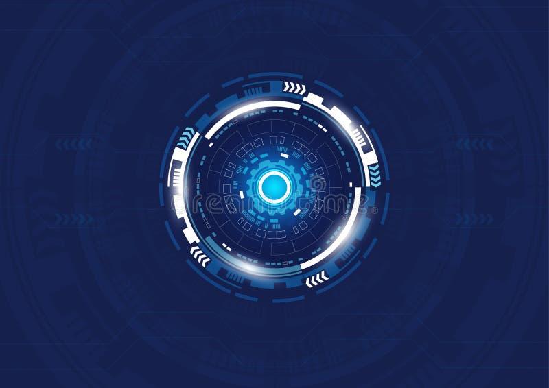 Fondo astratto di tecnologia digitale, progettazione di Ciao-tecnologia illustrazione di stock