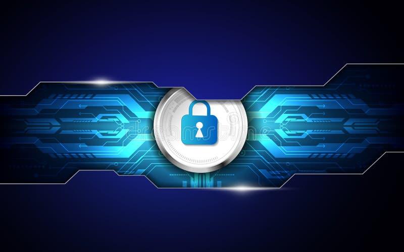 Fondo astratto di tecnologia digitale di sicurezza illustrazione VE illustrazione vettoriale