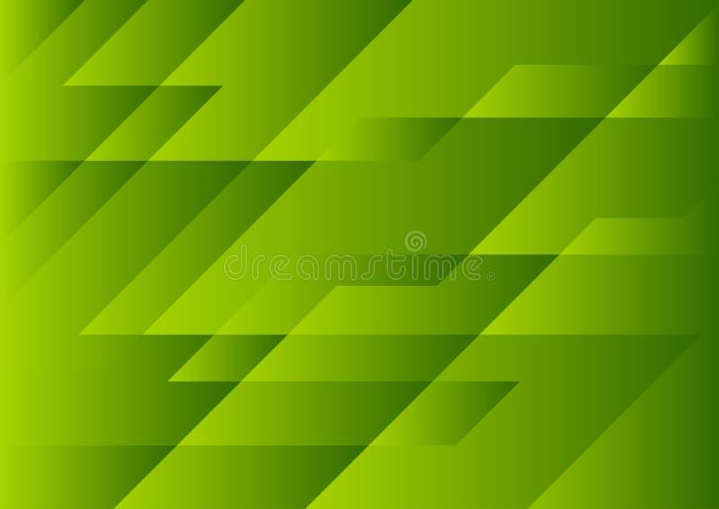 Fondo astratto di tecnologia geometrica verde intenso royalty illustrazione gratis